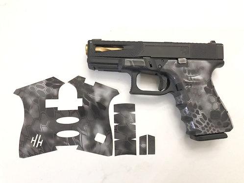 Glock  Black Kryptek Vinyl Style Gun Grip Wrap Gun Parts Kit