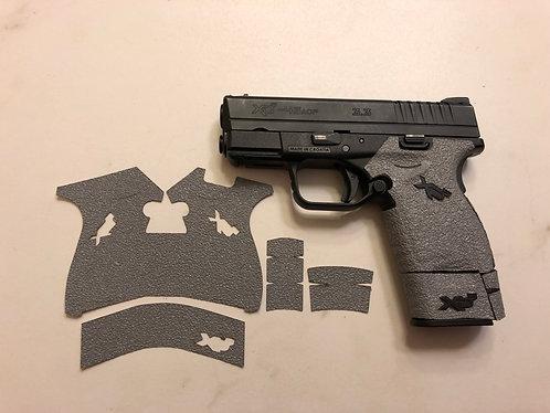 Springfield XDs 9/45 Gray Textured Rubber Gun Grip Enhancement Gun Parts Kit