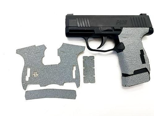 SIG SAUER P365 Gray Textured Rubber Gun Grip Enhancement Gun Parts Kit
