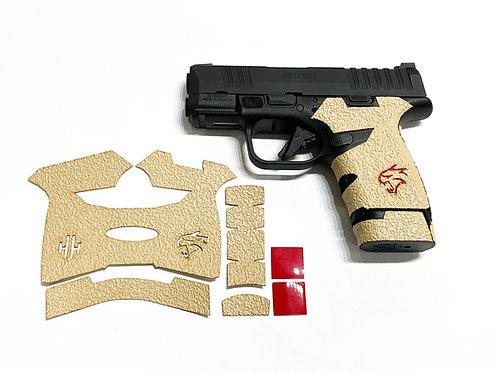 Springfield Hellcat Desert Sand Textured Rubber Gun Grip Enhancement Kit