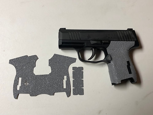 SIG SAUER P365 Gray Textured Rubber Gun Grip Enhancement Gun Parts Kit