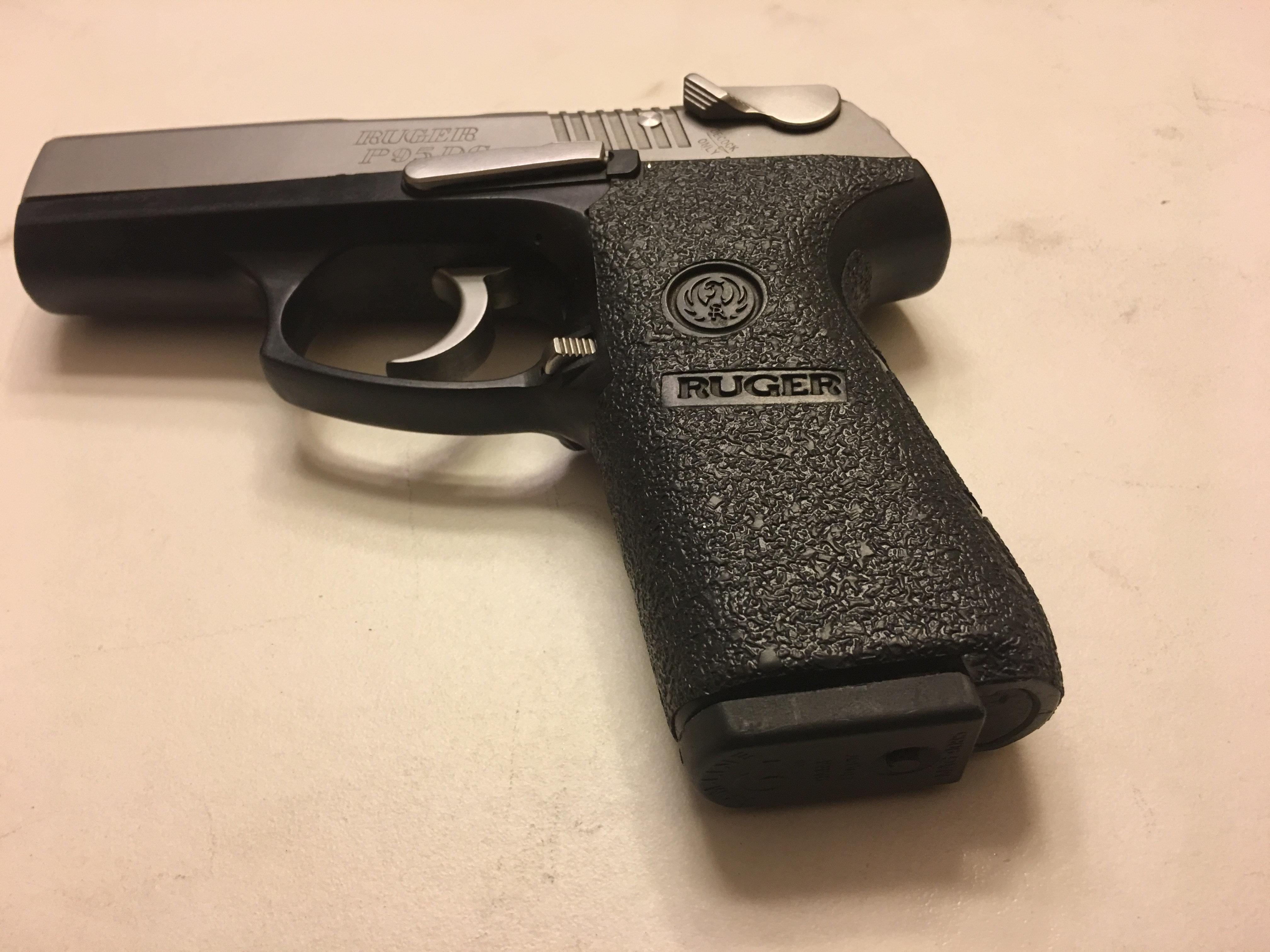 Ruger P95 Textured Rubber Gun Grip Enhancement