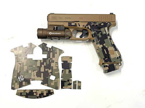 Marine Corp. Style Digital Camouflage Vinyl Gun Grip Kit