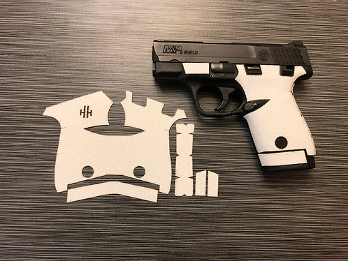 Smith and Wesson Shield White Color Sandpaper Grip Enhancement