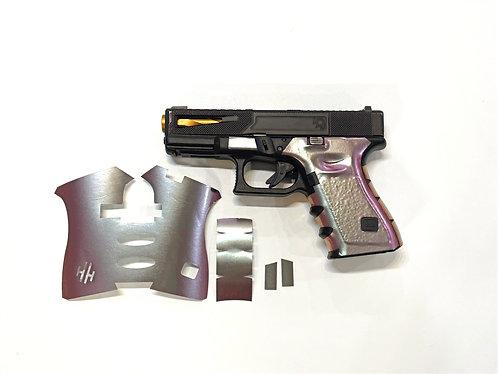 Green/ Purple Color Shift Vinyl Style Gun Grip Wrap Gun Parts Kit