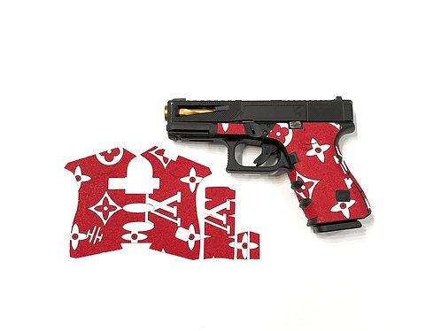 LOUIS VUITTON STYLE EDITION RED SANDPAPER GRIPS FOR GLOCK PRODUCTS