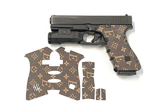 Handleitgrips Elegant Edition Brown / Gold Sandpaper Gun Grip Enhancement Kit