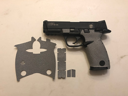Smith and Wesson M&P 22 Gray Textured Rubber Gun Grip Enhancement Gun Parts Kit