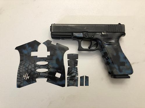 Glock  Blue Kryptek Vinyl Style Gun Grip Wrap Gun Parts Kit