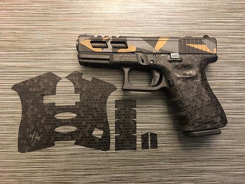 Glock  Honeycomb Vinyl Style Gun Grip Wrap Gun Parts Kit