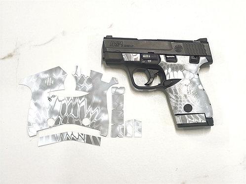 White Kryptek Vinyl Style Gun Grip Wrap Gun Parts Kit