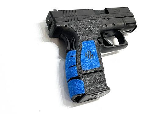 Springfield XD Subcompact Hybrid Textured Rubber / Sandpaper  Gun Grip  Kit