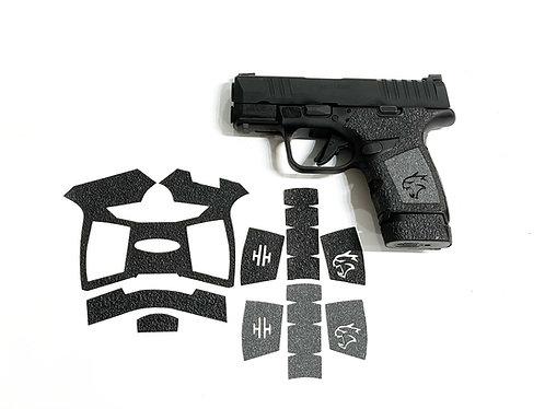Springfield HELLCAT Hybrid Textured Rubber / Sandpaper  Gun Grip Kit