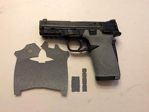 Smith and Wesson Shield ez Gray Textured Rubber Gun Grip Enhancement Gun Parts