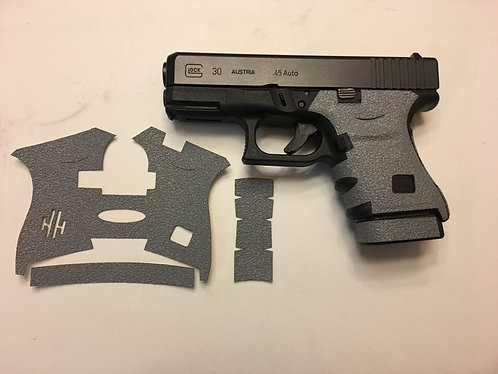 Glock 30 Gray Textured Rubber Grip Enhancement