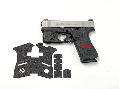 Glock 43X / 48 Thin Line Series Textured Rubber Gun Grip Wrap Gun Parts Kit
