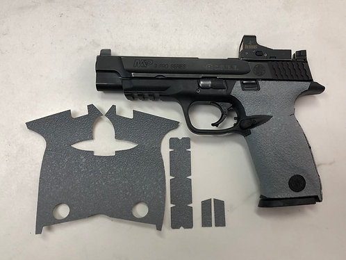 Smith & Wesson M & P Full Sized 9/40 Gray Textured Rubber Gun Grip Wrap Gun Part