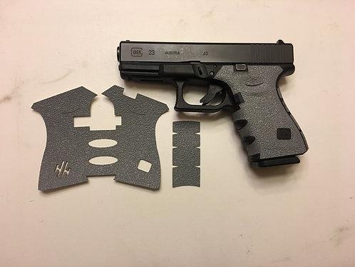 Glock 19/23/25/32/38 Gray Textured Rubber Gun Grip Enhancement Gun Parts Kit
