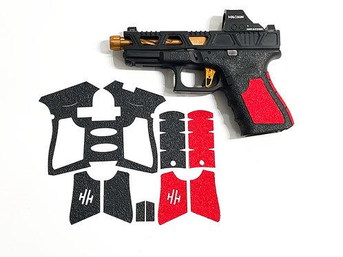 Glock 19/23 Hybrid Textured Rubber / Sandpaper  Gun Grip Enhancement  Kit