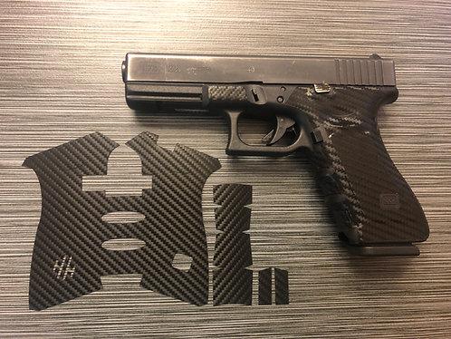 Glock 17/22/34/35 Carbon Fiber Style Gun Grip Wrap Gun Parts Kit
