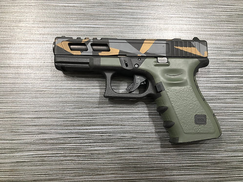 OD Green Vinyl Style Gun Grip Wrap Gun Parts Kit