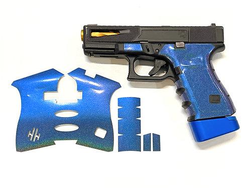 Blue Color Shift Vinyl Style Gun Grip Wrap Gun Parts Kit