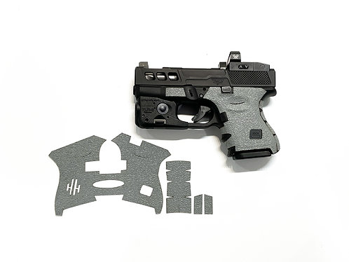 Glock 26/27/28/33/39  Gray Textured Rubber Gun Grip Enhancement Gun Parts Kit