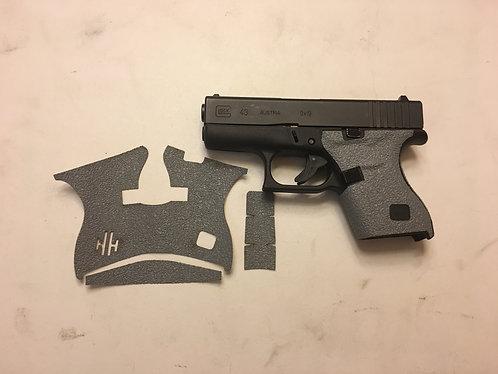 Glock 43 Gray Textured Rubber Gun Grip Enhancements Gun Parts Kit