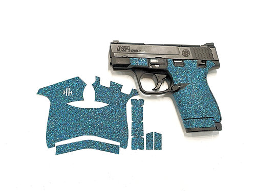 Smith and Wesson Shield Blue Glitter Color Sandpaper Grip Enhancement