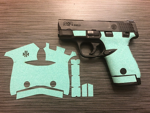 Smith and Wesson Shield Tiffany Blue Sandpaper Gun Grip Enhancement Gun Part Kit