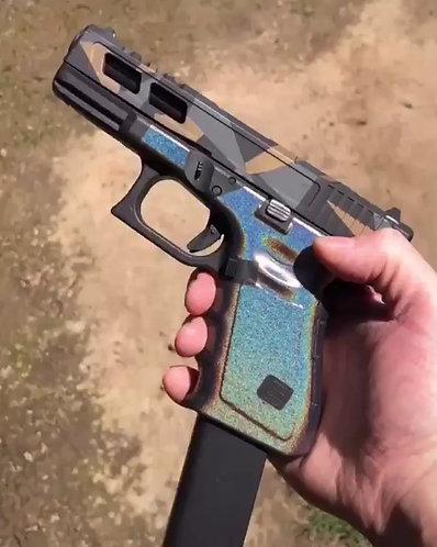 Silver Color Shift Vinyl Style Gun Grip Wrap Gun Parts Kit