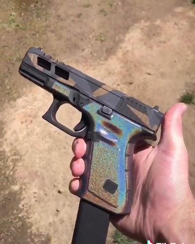 Glock 19/23/25/32/38 Color Shift Vinyl Style Gun Grip Wrap Gun Parts Kit