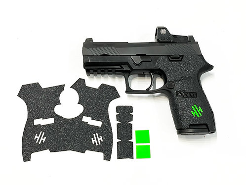 SIG SAUER P320  Full Sized Gun Grip Enhancement Gun Parts Kit With Color Inserts