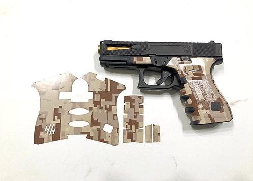 Brown Digital Camouflage Vinyl Gun Grip Kit