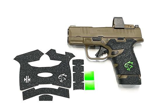 Handleitgrips Textured Rubber Gun Grip for Springfield HELLCAT Kit  Green Insert