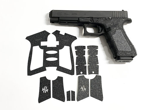 Glock 17/23/34/35 Textured Rubber / Sandpaper Hybrid Gun Grip Enhancement Kit