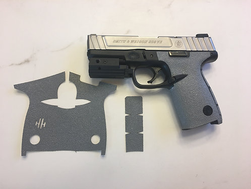 Smith and Wesson SD9 VE /SD40 Gray Textured Rubber Gun Grip Enhancement