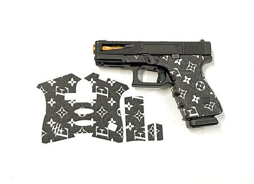 Handleitgrips Elegant Edition Black / White Sandpaper Gun Grip Enhancement Kit