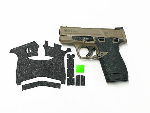 Smith and Wesson Shield 9/40 Gun Grip Enhancement Parts Kit with Green Insert