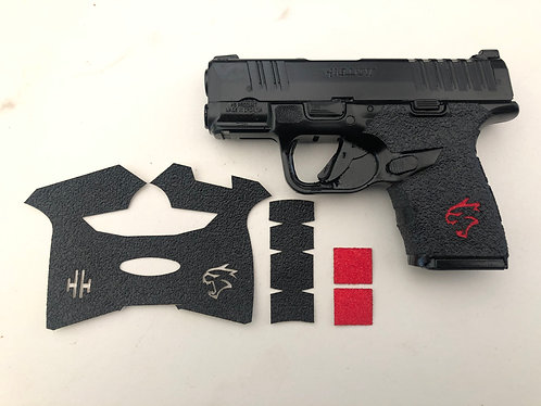 Handleitgrips Textured Rubber Gun Grip  for Springfield Hellcat with Red Insert