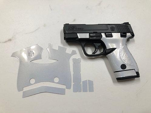 Smith & Wesson Shield 9/40 Pearl White Vinyl Style Gun Grip Wrap Gun Parts Kit