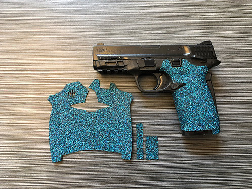 Smith and Wesson Shield ez Glitter Blue Sandpaper Gun Grip Enhancement Gun Parts