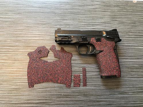 Smith and Wesson Shield ez Red Glitter Sandpaper Gun Grip Enhancement Gun Parts
