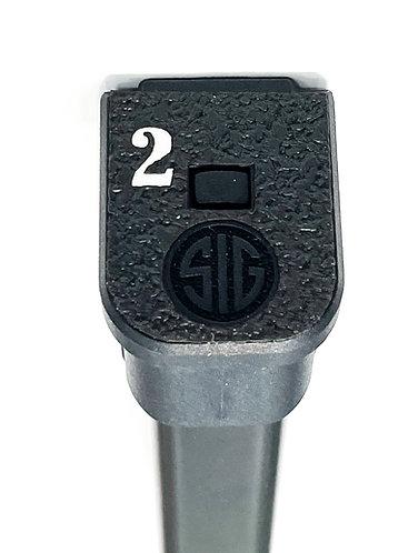 Sig Sauer P320 21 RD Numbered Base Plate  Grip Enhancement
