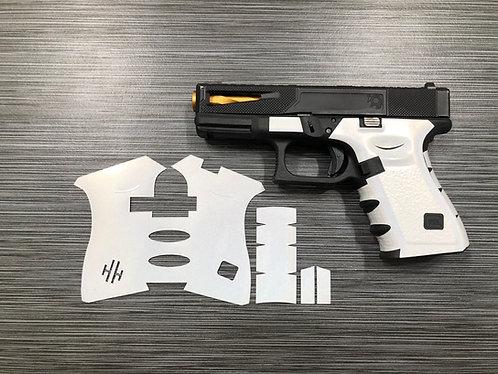 Glock 19/23/25/32/38 Pearl White Vinyl Style Gun Grip Wrap Gun Pa