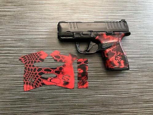 Springfield Hellcat Red Kryptek Vinyl Style Gun Grip Wrap Gun Parts Kit