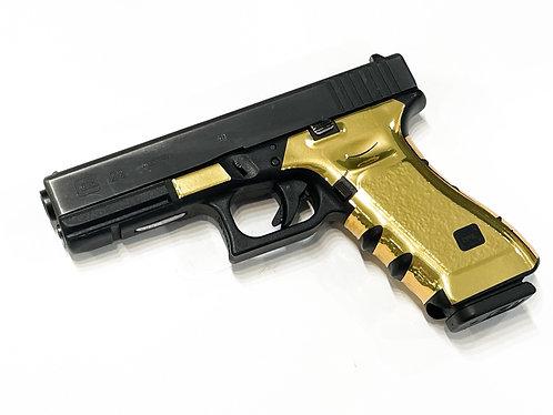 Glock 17/22/34/35 Gold Chrome Vinyl Gun Grip Wrap Gun Parts Kit