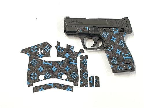 Handleitgrips Elegant Edition Blue / Black Sandpaper Gun Grip Enhancement Kit