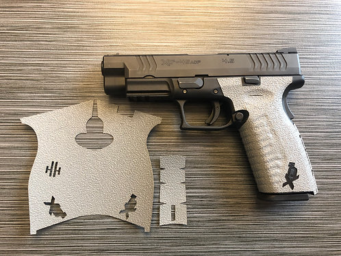Springfield XDM 45 GRAY Textured Rubber Gun Grip Enhancement Gun Parts Kit