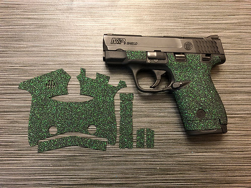 Smith and Wesson Shield Green Glitter Color Sandpaper Grip Enhancement